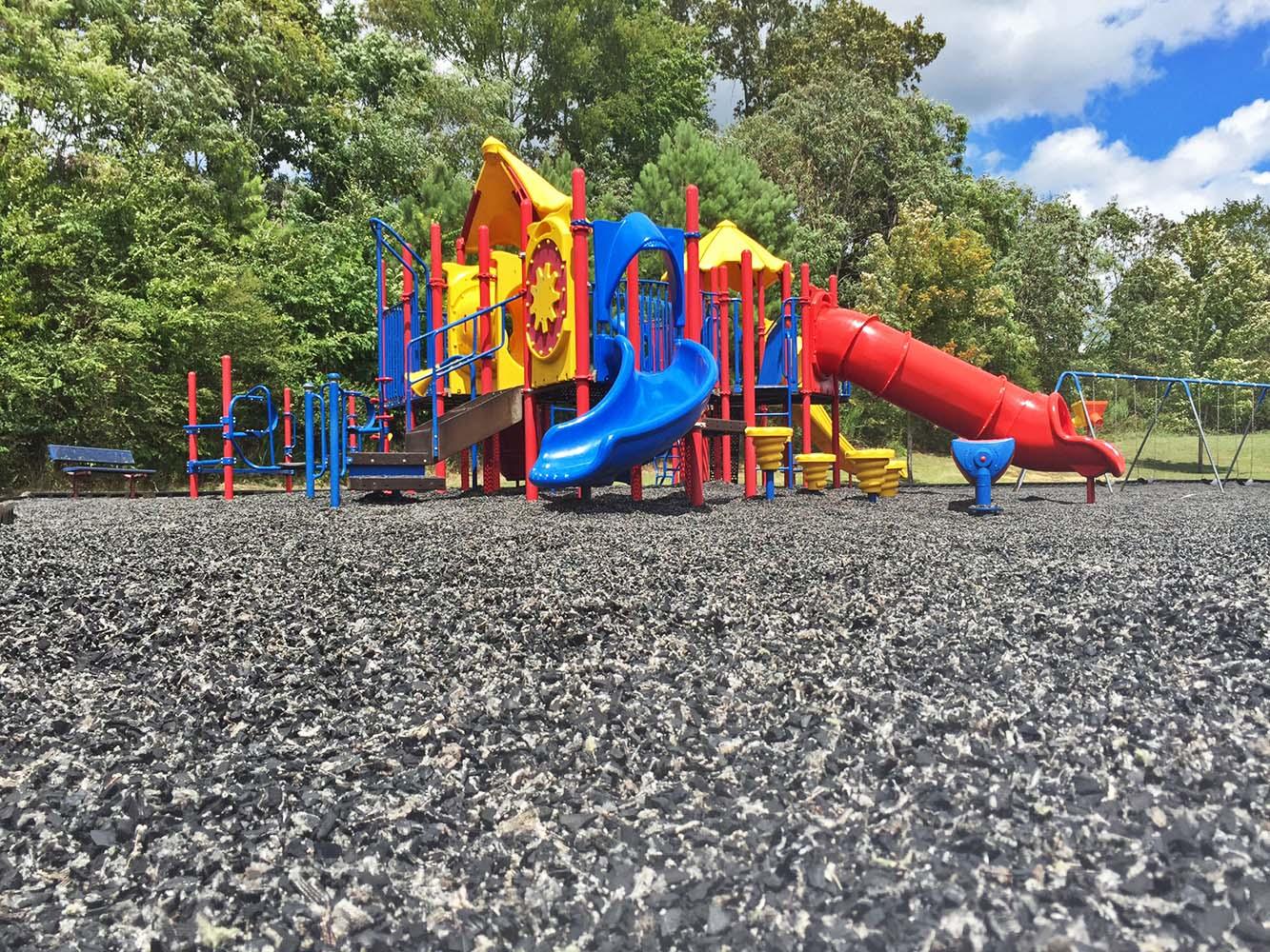 Playground Mulch After