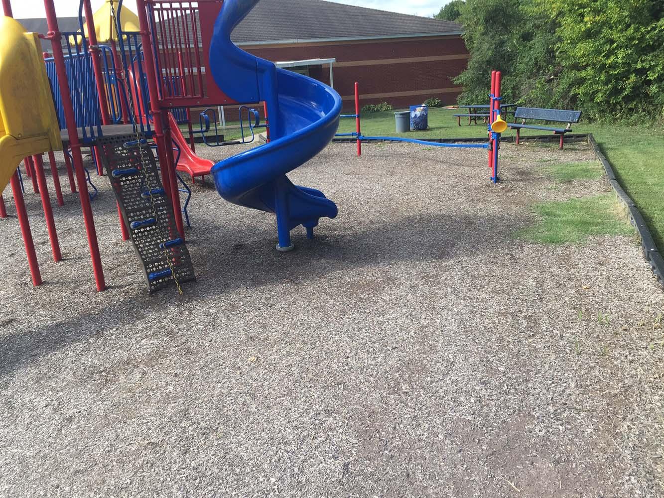 Playground Mulch Before Magic Mulch