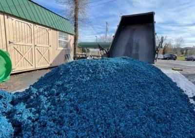 Blue Dump Trailer